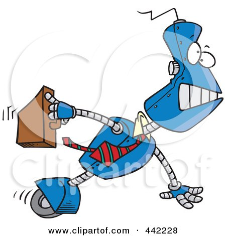 Royalty-Free (RF) Clip Art Illustration of a Cartoon Robot Executive by toonaday