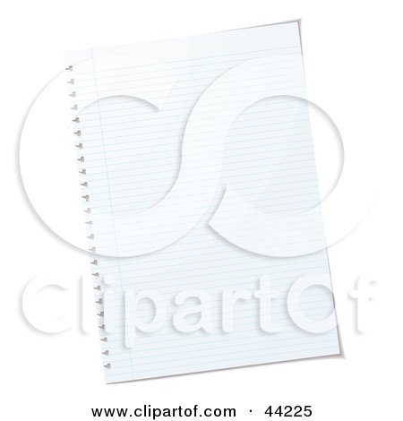 Royalty-free (RF) Clip Art Of A Blank Sheet Of White Paper by michaeltravers