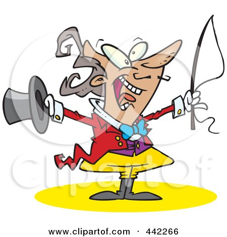 Royalty-Free (RF) Clip Art Illustration of a Cartoon Energetic Ringmasater by toonaday