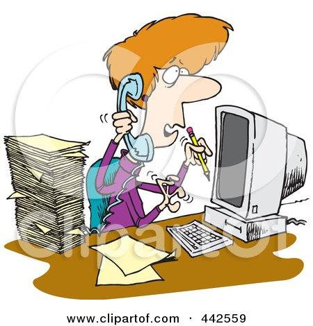 Computer stress cartoon