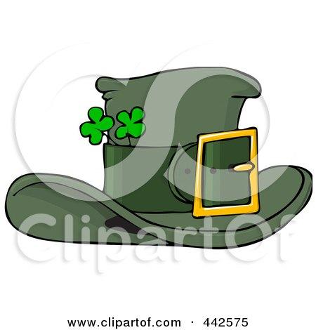 Royalty-Free (RF) Clip Art Illustration of a Green Leprechaun Hat With Shamrocks by djart