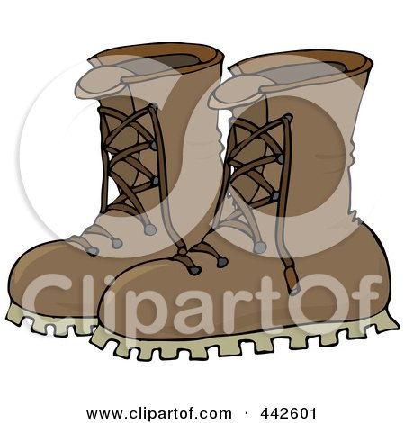 Royalty-Free (RF) Clip Art Illustration of a Pair Of Leather Boots by djart