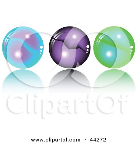 Collage Of Blue, Purple And Green Spheres With Orbs In Them Posters, Art Prints