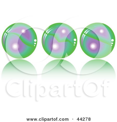 Collage Of Three Green And Purple Crystal Balls Posters, Art Prints