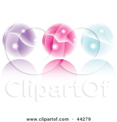 Collage Of Purple, Pink And Blue Shiny Crystal Balls Posters, Art Prints
