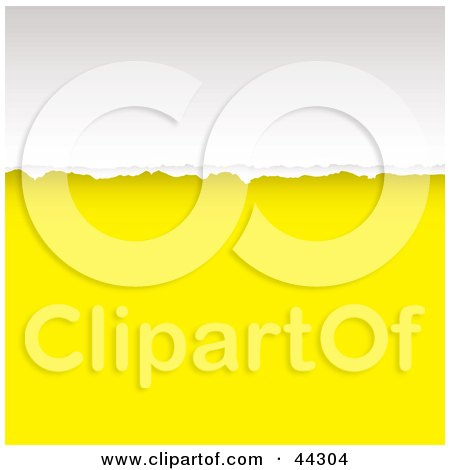 Royalty-free (RF) Clip Art Of a Yellow Tear Divide Background by michaeltravers