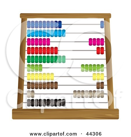 Royalty-free (RF) Clip Art Of A Colorful Abacus Counting Frame by michaeltravers