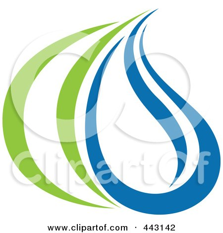Royalty-Free (RF) Clip Art Illustration of a Green And Blue Ecology Logo Icon - 30 by elena