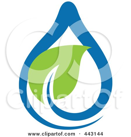 Royalty-Free (RF) Clip Art Illustration of a Green And Blue Ecology Logo Icon - 2 by elena