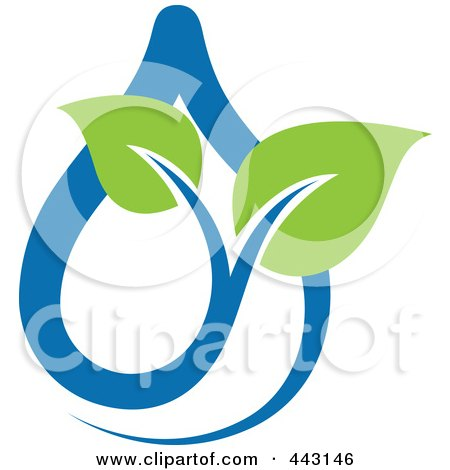Royalty-Free (RF) Clip Art Illustration of a Green And Blue Ecology Logo Icon - 3 by elena