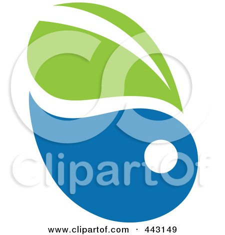 Royalty-Free (RF) Clip Art Illustration of a Green And Blue Ecology Logo Icon - 7 by elena
