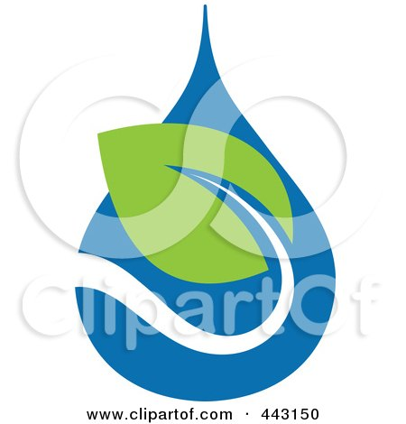 Royalty-Free (RF) Clip Art Illustration of a Green And Blue Ecology Logo Icon - 23 by elena
