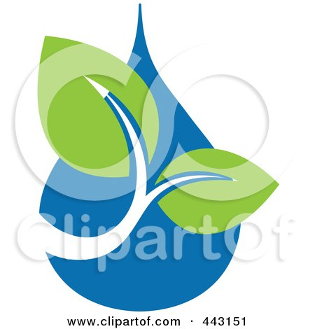 Royalty-Free (RF) Clip Art Illustration of a Green And Blue Ecology Logo Icon - 24 by elena