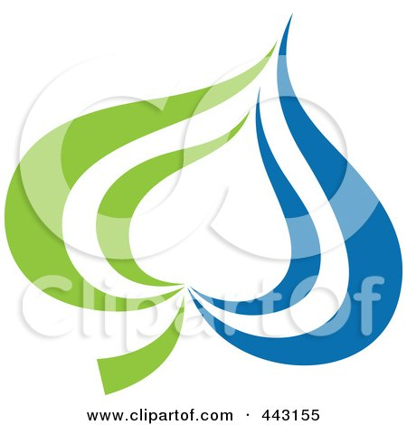 Royalty-Free (RF) Clip Art Illustration of a Green And Blue Ecology Logo Icon - 18 by elena