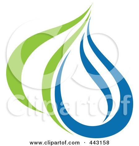 Royalty-Free (RF) Clip Art Illustration of a Green And Blue Ecology Logo Icon - 28 by elena