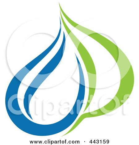 Royalty-Free (RF) Clip Art Illustration of a Green And Blue Ecology Logo Icon - 25 by elena
