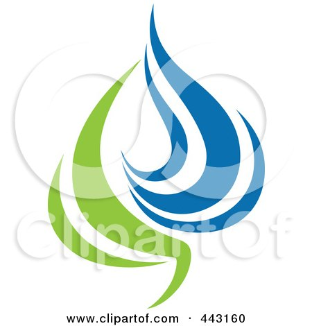 Royalty-Free (RF) Clip Art Illustration of a Green And Blue Ecology Logo Icon - 15 by elena