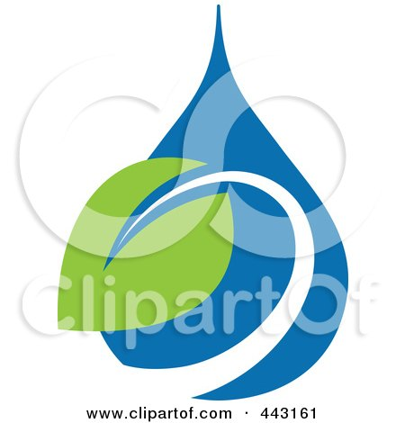 Royalty-Free (RF) Clip Art Illustration of a Green And Blue Ecology Logo Icon - 22 by elena