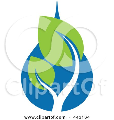 Royalty-Free (RF) Clip Art Illustration of a Green And Blue Ecology Logo Icon - 21 by elena