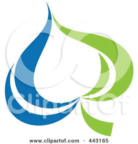 Royalty-Free (RF) Clip Art Illustration of a Green And Blue Ecology Logo Icon - 13 by elena