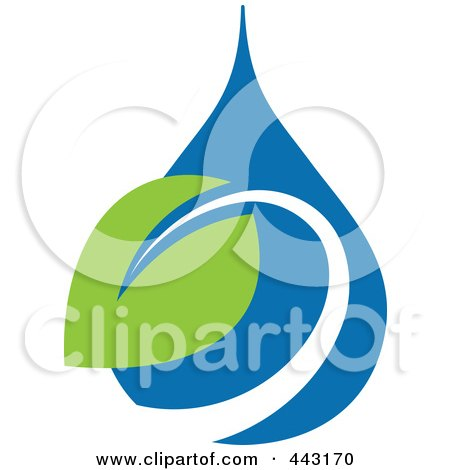 Royalty-Free (RF) Clip Art Illustration of a Green And Blue Ecology Logo Icon - 19 by elena