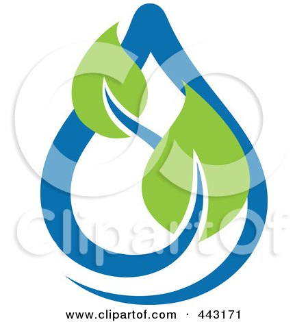 Royalty-Free (RF) Clip Art Illustration of a Green And Blue Ecology Logo Icon - 5 by elena