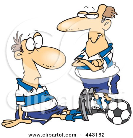 soccer player cartoon. Dazed Soccer Player