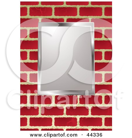 Royalty Free RF Clip Art Of Picture Frame On Brick Wall Background