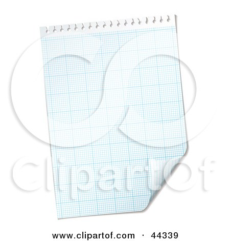Royalty-free (RF) Clip Art Of  A Blank Paper Grid With Corner Peeling Up by michaeltravers