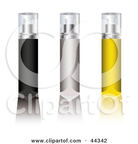 Royalty-free (RF) Clip Art Of An Assortment Of Aerosol Deodorant Spray Sticks by michaeltravers