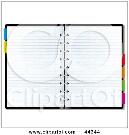 Royalty-free (RF) Clip Art Of Blank Paper In An Organizer Planner by michaeltravers