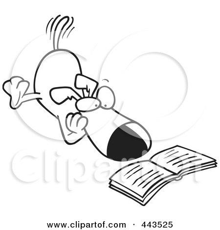 Dog Reading Clip Art