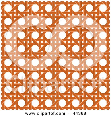 44368-Clipart-Illustration-Of-An-Orange-Wicker-Pattern-Background.jpg