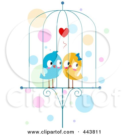 Two Lovebirds In A Cage Posters, Art Prints