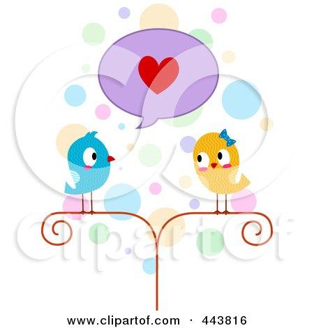 Lovebird Professing His Love Posters, Art Prints