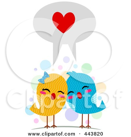Love Birds Speaking The Language Of Love Posters, Art Prints