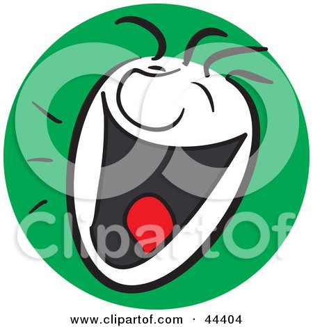 Clipart Illustration of a Laughing Man With A Happy Facial Expression by Frisko