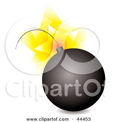 Royalty-free (RF) Clip Art Of An Exploding Black Bomb by michaeltravers