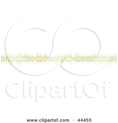 Royalty-free (RF) Clip Art Of A Thin Green And Orange Equalizer Bar Border by michaeltravers