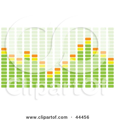 Royalty-free (RF) Clip Art Of A Green And Orange Equalizer Bar Of Rectangles by michaeltravers
