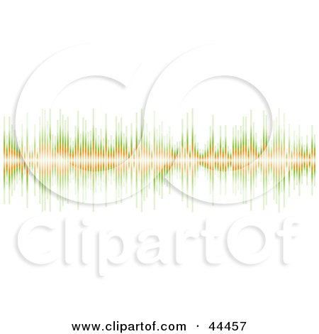 Royalty-free (RF) Clip Art Of A Green And Orange Sound Equalizer Bar Border by michaeltravers