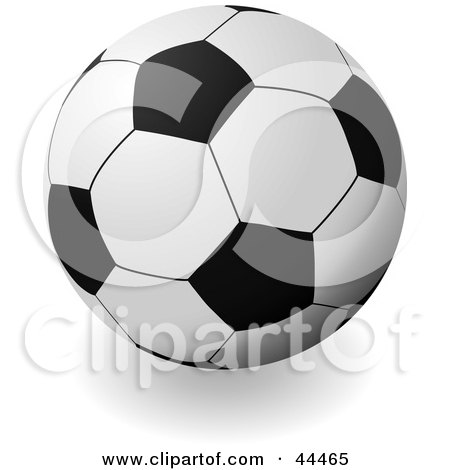 Royalty-free (RF) Clip Art Of A Traditional Soccer Ball Football by michaeltravers