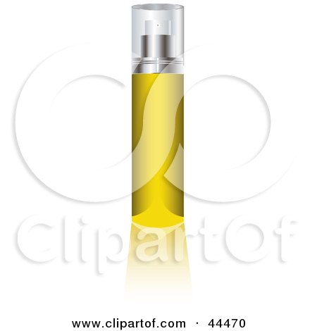 Royalty-free (RF) Clip Art Of A Glass Cologne Bottle Filled With Yellow Liquid Fragrance by michaeltravers