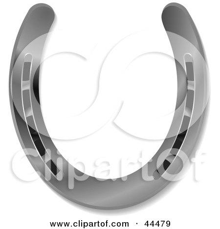 Royalty-free (RF) Clip Art Of A Shiny New 3d Platinum Horseshoe by michaeltravers