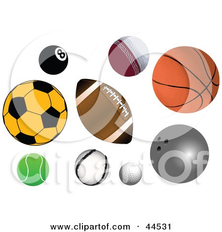 Sports Balls Clipart Cake Ideas and Designs