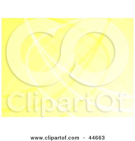 Clipart Illustration of a Yellow Website Background Of Curving Wires by oboy