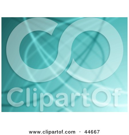 Clipart Illustration of a Greenish Blue Website Background Of Curving Wires by oboy