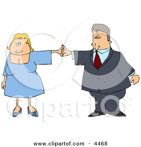 Business Couple Dancing Together Posters, Art Prints