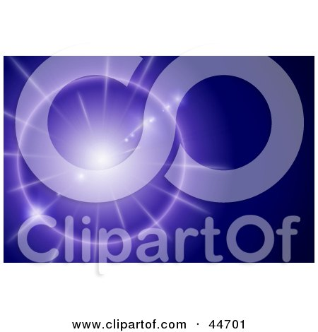 Clipart Illustration of a Purple Star Shining Brightly in a Blue Sky by oboy