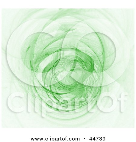 Royalty-Free (RF) Clipart Illustration of a Glowing Green Fractal Spinning by oboy